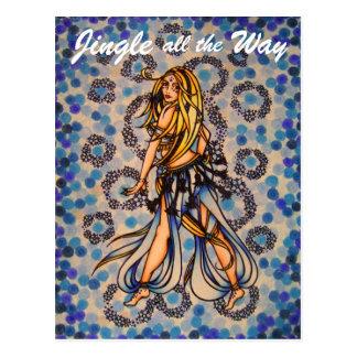 Cartão da dança do ventre do tinir cartão postal