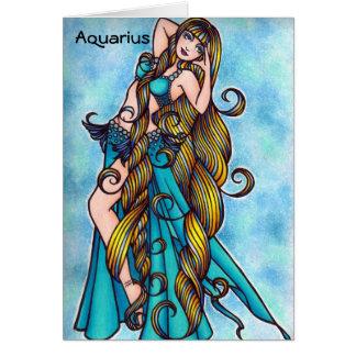 Cartão da dança do ventre do zodíaco do Aquário