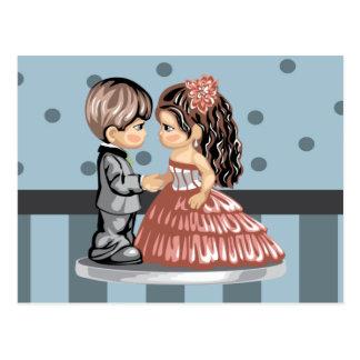 Cartão da data do baile de formatura cartão postal