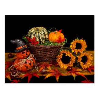 Cartão da decoração do Dia das Bruxas