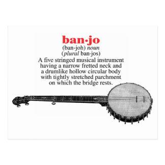 Cartão da definição do banjo