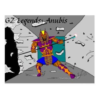 """Cartão da """"descoberta"""" de Anubis"""