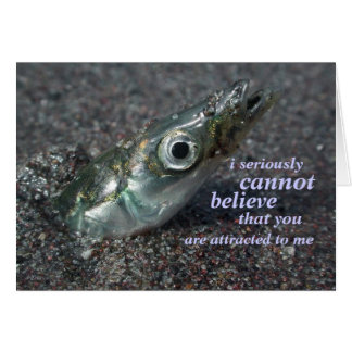 cartão da descrença