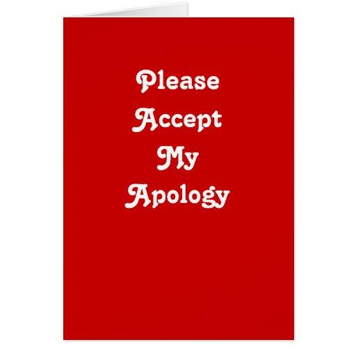 Cartão da desculpa