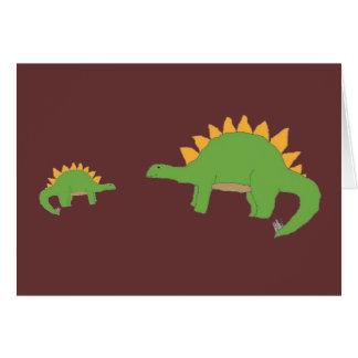 Cartão da desculpa de Dino