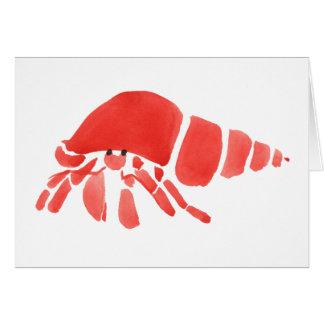Cartão da desculpa do caranguejo de eremita