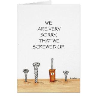 Cartão da desculpa do negócio