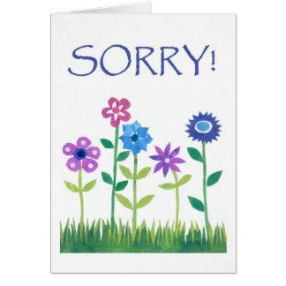 Cartão da desculpa - flower power