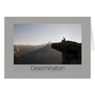 Cartão da determinação