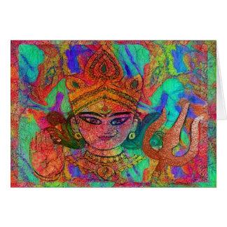 Cartão da deusa Durga2