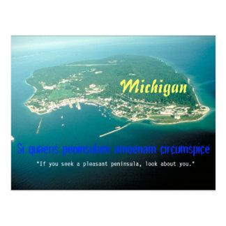 Cartão da divisa do estado do Michigan