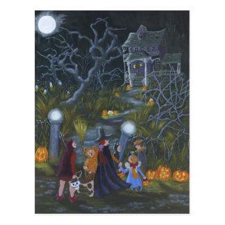 Cartão da doçura ou travessura do Dia das Bruxas