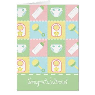 Cartão da edredão do bebê