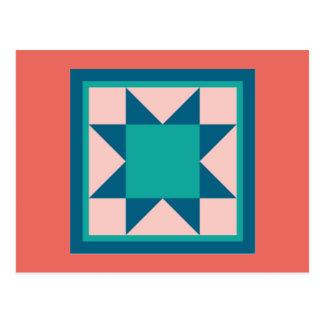 Cartão da edredão - estrela do Sawtooth