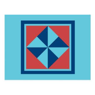 Cartão da edredão - Pinwheel (marinho/vermelho)