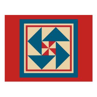 Cartão da edredão - rotação patriótica (vermelha)