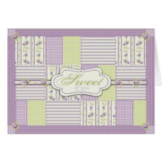 Cartão da edredão TY do rosa do Lilac