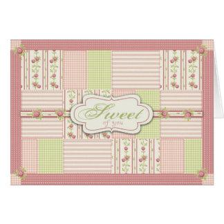 Cartão da edredão TY do rosa do Victorian