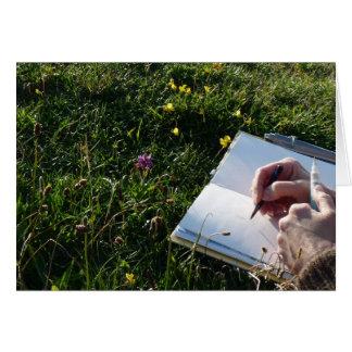 """Cartão Da """"esboço natureza """""""