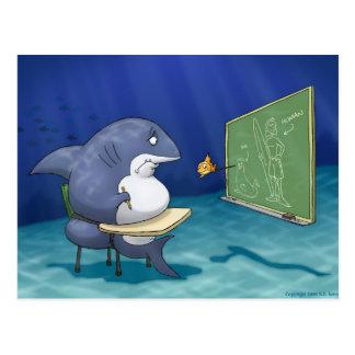Cartão da escola do tubarão