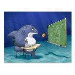 Cartão da escola do tubarão cartao postal