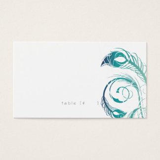 Cartão da escolta da pena do pavão