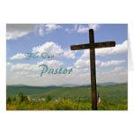 Cartão da escritura da apreciação do pastor