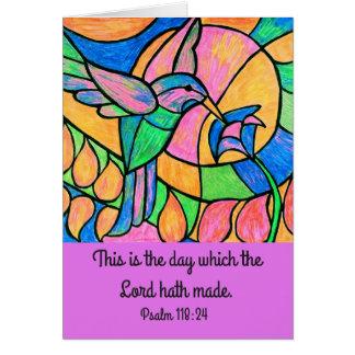 Cartão da escritura do colibri