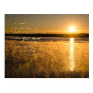 Cartão da escritura do nascer do sol: Salmo 139