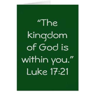 """Cartão da escritura do """"reino"""""""