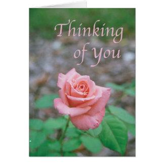 """Cartão da escritura -- O """"pensamento de você"""" com"""