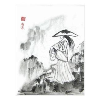 Cartão da espada do desenho do samurai
