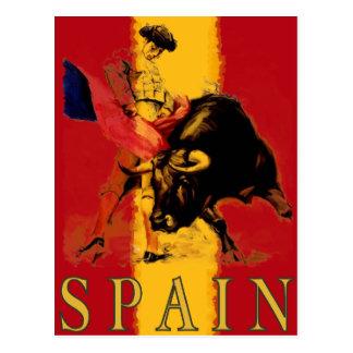 Cartão da espanha com Bullfight do vintage Cartão Postal
