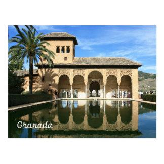 Cartão da espanha de Alhambra Granada