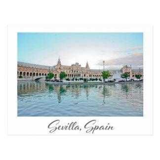 Cartão da espanha de Plaza de España Sevilha