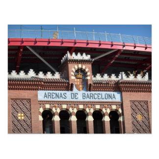 Cartão da espanha do de Barcelona das arenas