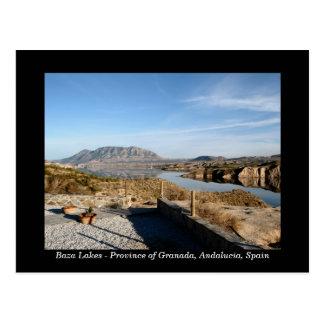 Cartão da espanha dos lagos Baza, Granada