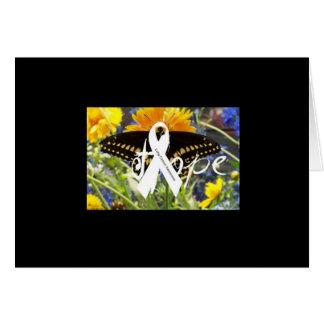 Cartão da esperança do câncer pulmonar