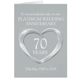 Cartão da esposa do aniversário de casamento da