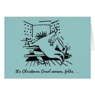 Cartão da estação da canção de natal do Natal