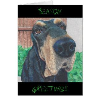 cartão da estação do cachorrinho