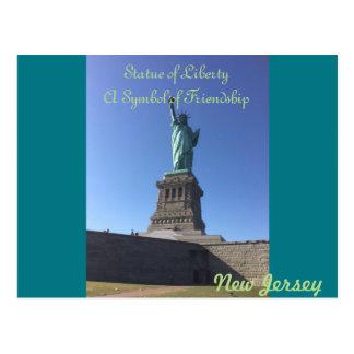 Cartão da estátua da liberdade de New-jersey
