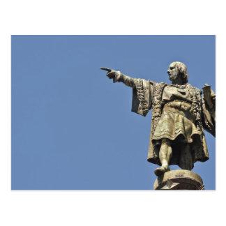 Cartão da estátua de Cristóvão Colombo