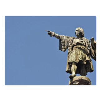 Cartão da estátua de Cristóvão Colombo Cartão Postal