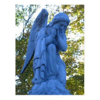 Cartão da estátua de Zink do anjo azul