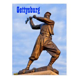 Cartão da estátua IV de Gettysburg
