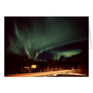 Cartão da estrada da Aurora