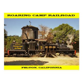 Cartão da estrada de ferro do acampamento rujir