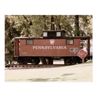 Cartão da estrada de trilho de Pensilvânia