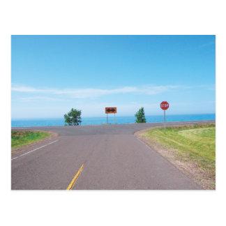 Cartão da estrada do limite do Lago Superior
